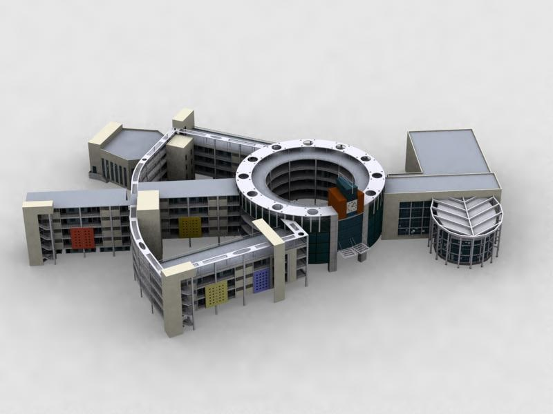 3d model little school