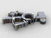 3d model little school
