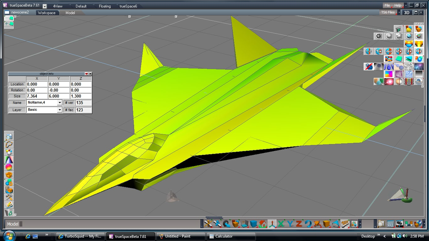 free transformer robot airplane 3d model