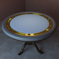 small poker table 3d model