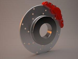 free brake disk 3d model