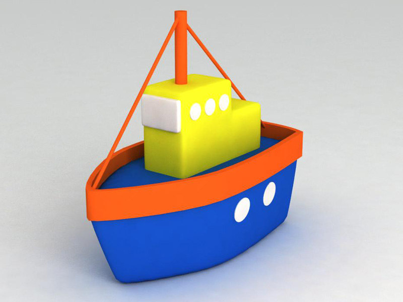 3d toy ship model