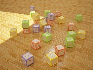 3d fbx baby block