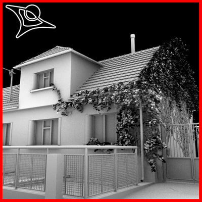 typical houses 3d model