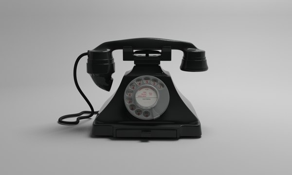 bakelite gpo 232 telephone 3d model