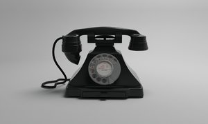 bakelite gpo 232 telephone 3d model
