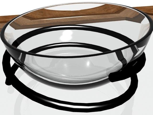 maya table glass bowl modern