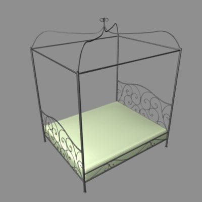 bed forged 3d model