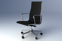 3d model eames aluminium group executive chair