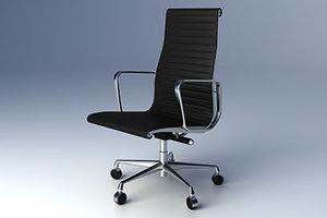 3d model eames aluminium group executive chair