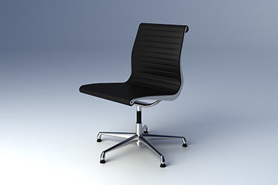 3d model eames aluminium group chair