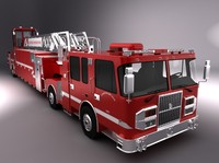 Long rescue Fire Truck