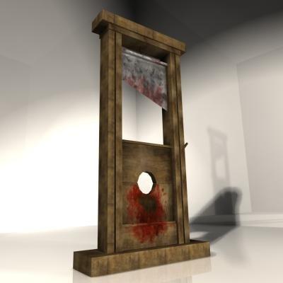 3d model guillotine