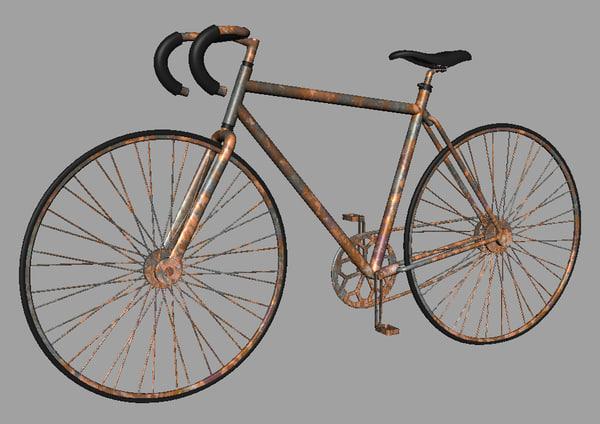rusty 10 speed bike 3d 3ds