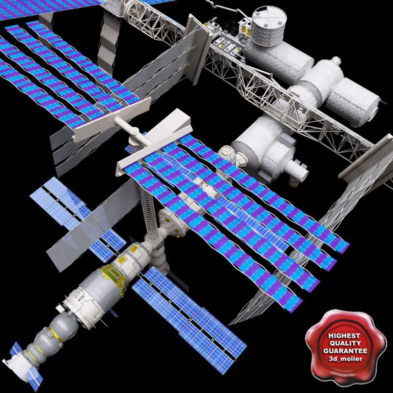 3d model international space station v2