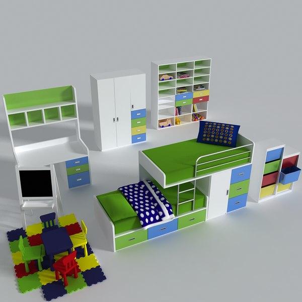 3d kids room model