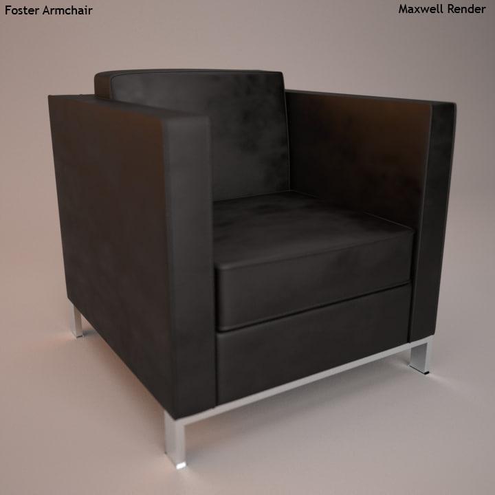 3d model armchair foster