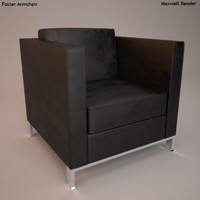 3d model armchair foster
