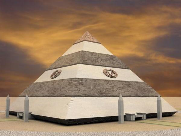 3d model pyramid apophis