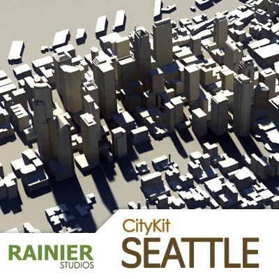 3dsmax citykit seattle city
