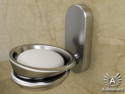 restroom soap dish 2010 3d model
