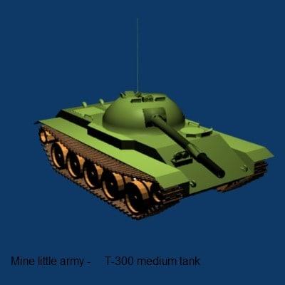 free 3ds model t-300 medium tank