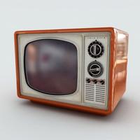 3d retro television model