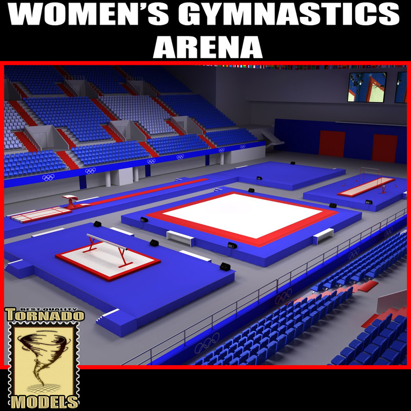 women gymnastics arena 3d obj