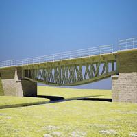 3dsmax railroad bridge