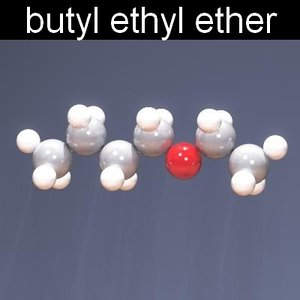 molecule butyl ethyl ether 3d ma