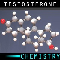 molecule testosterone 3d max