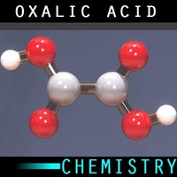 3d molecule oxalic acid model