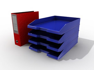 filing folder 3d model