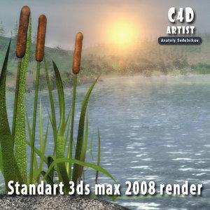 coast fishing 3d model
