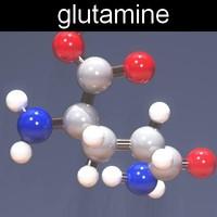 molecule glutamine 3d max