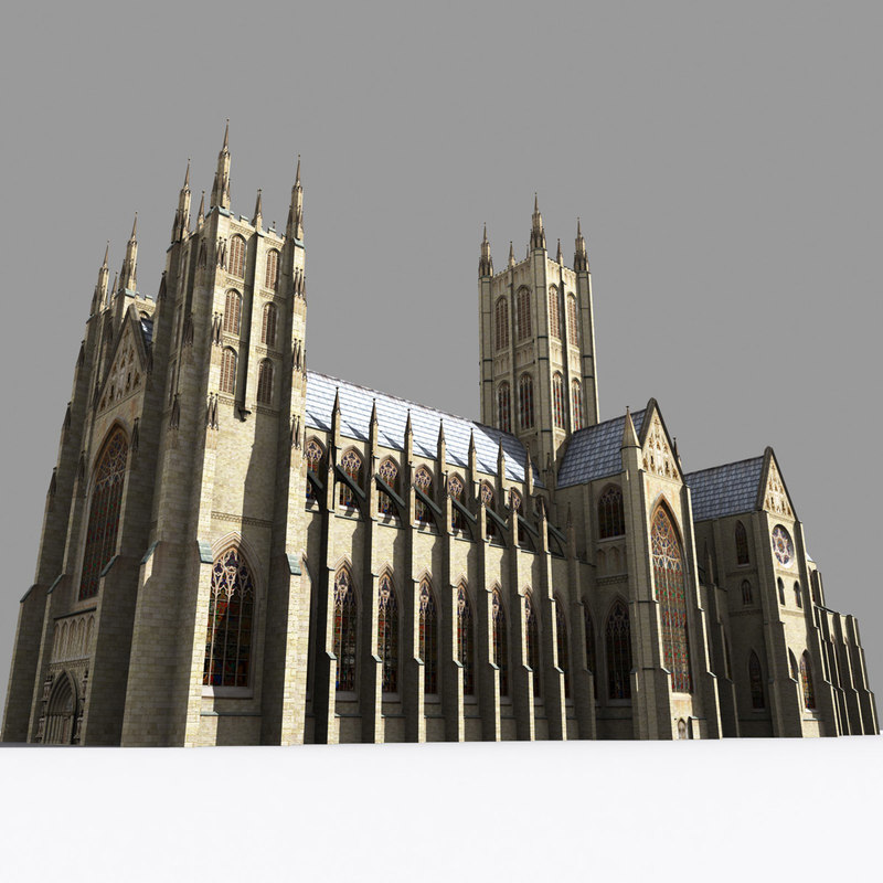 cathedrals gothic kit 3d model