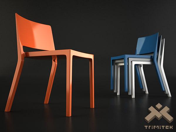 lizz chair kartell 3d model