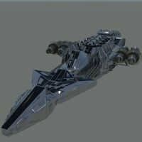 3d large space ship