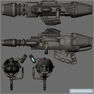 free blend mode scifi energy minigun