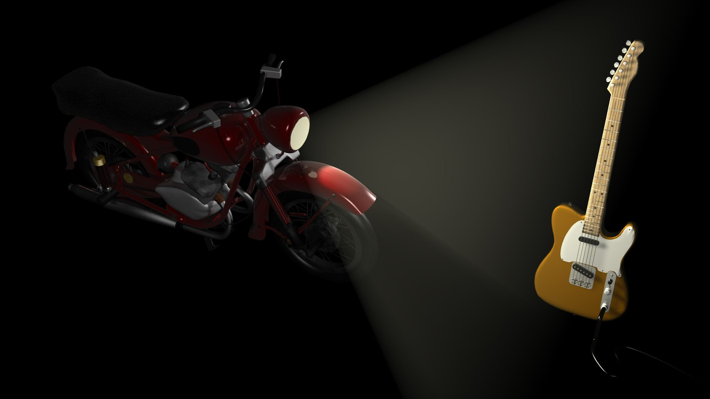 3d motorcycle electric guitar