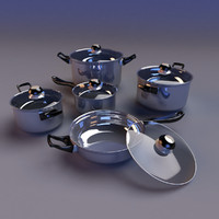 set cookware 3d model