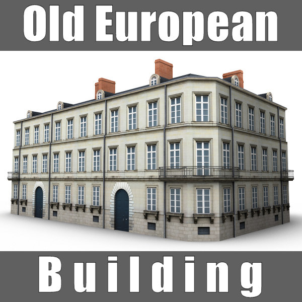 old european building 3d model