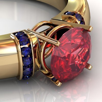3dsmax gold ring