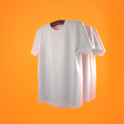 hanging t-shirts maxwell 2 3d model
