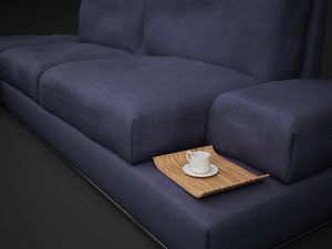 3d model italian sofa vibieffe fly