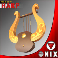 3ds max gold harp