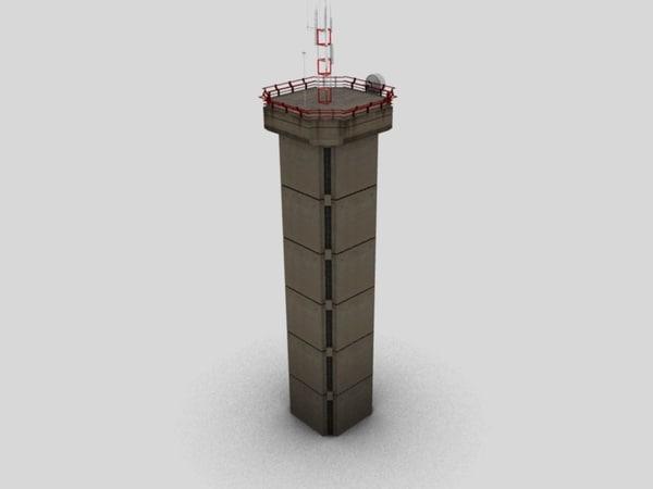 tower antenna 3d 3ds
