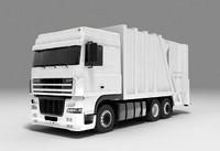 camion basurero 3ds