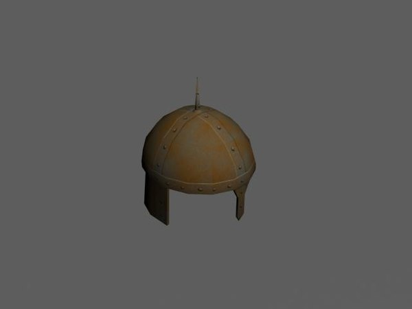 free helmet rust 3d model