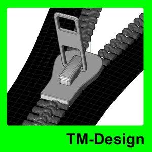 zipper accessories 3d model